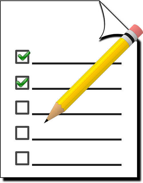 Survey stock image